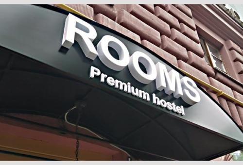 Объемные буквы ROOMS Premium Hostel